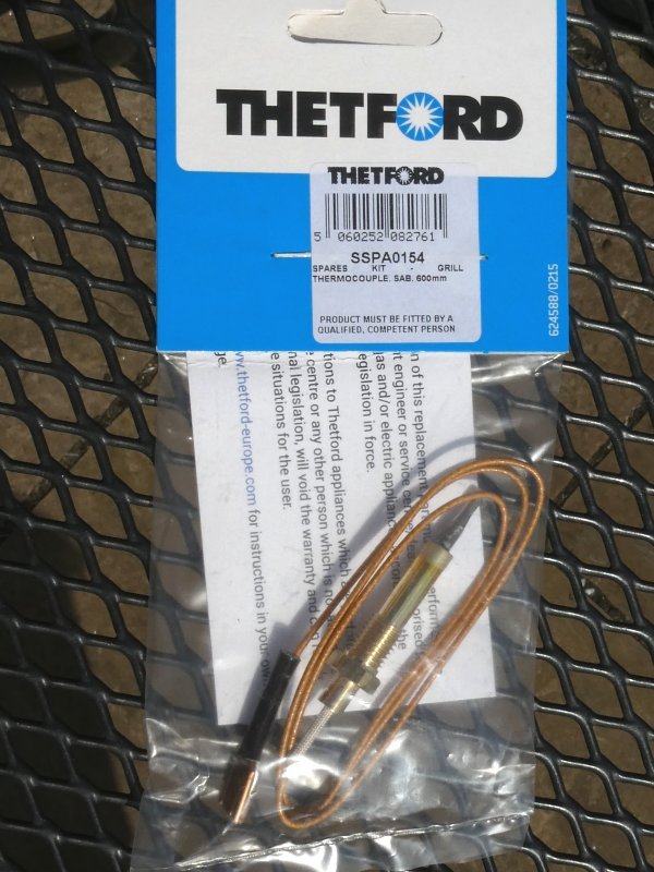 Thetford Grill Thermocouple - part # SSPA0154.jpg