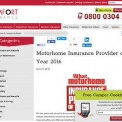 Motorhome Insurance - Award Winning | Comfort Insurance