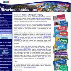 Vicarious Books - Camping Caravaning and Motorhome stopover site guide publishers.
