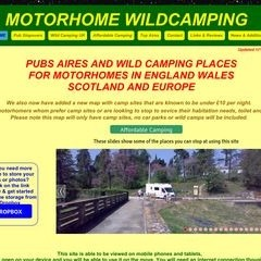 PUBS, AIRES,  WILD CAMPING FOR MOTORHOMES IN ENGLAND WALES SCOTLAND & EUROPE